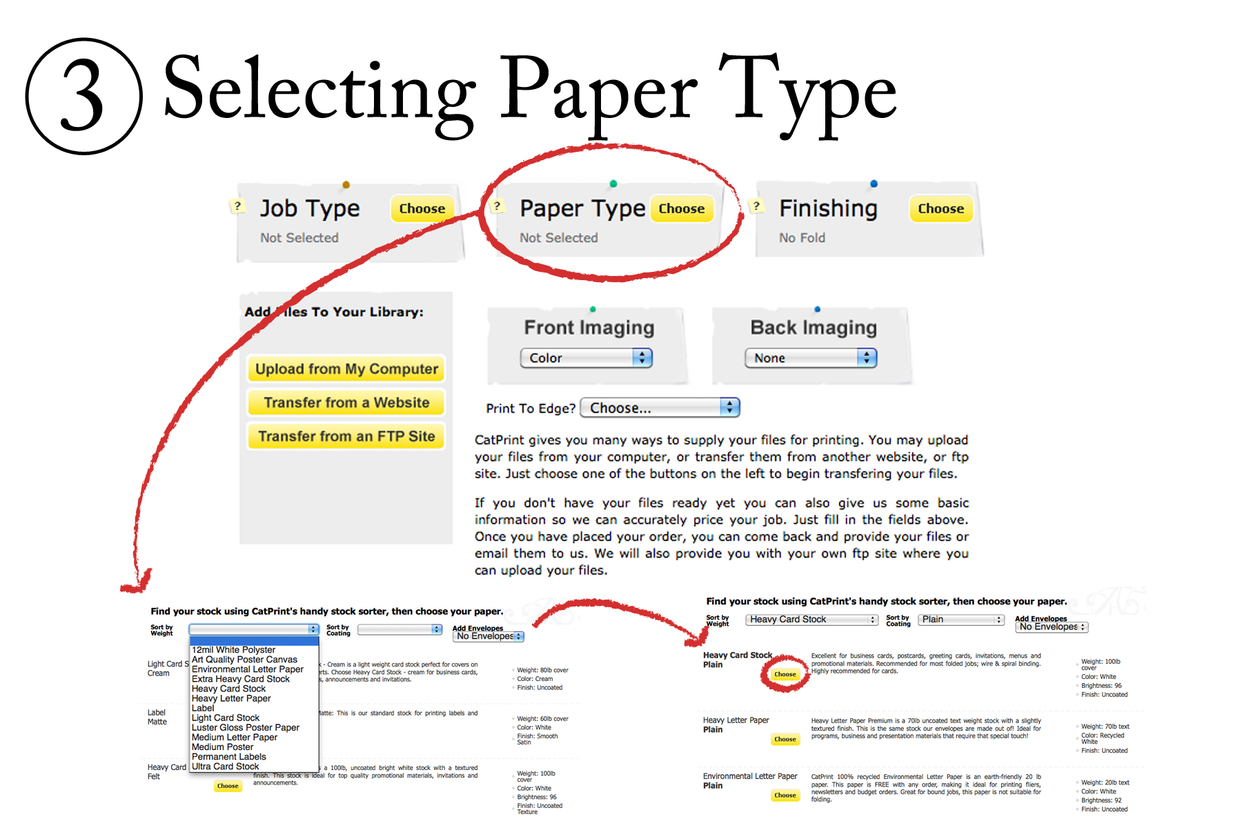 Selecting Paper Type