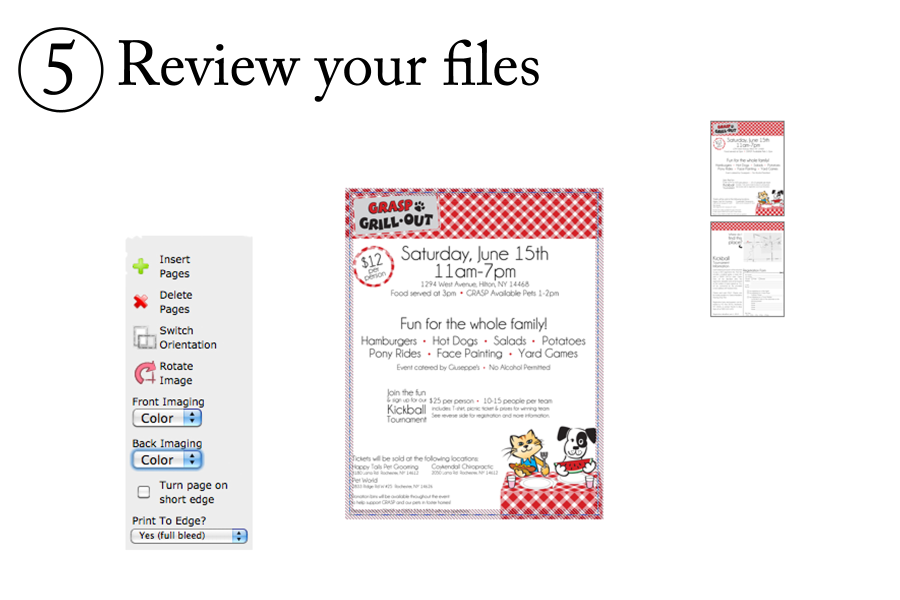 Reviewing Files